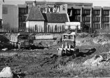 Clearing ground for the Wehr Physics Building, 1972