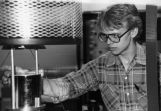 Sophomore Steve Jensen works in a physics lab, 1980
