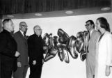 "Unveiling of ""Life Forms,"" in the lobby of the Life Sciences Building, 1965"