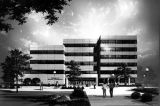 Architect's conceptual drawing of the renovation and expansion of the Business Administration...