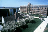East façade of the Schroeder Complex, as seen from Memorial Library.