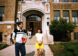 Students exit the Schroeder Complex