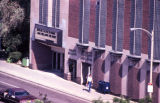 View looking down at the main entrance to the Varsity Building, 1984