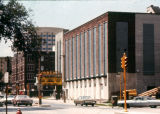 The Varsity Theatre and Holthusen Hall, as seen from the southeast at Wisconsin Avenue and 12th...