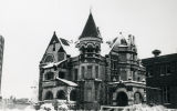 View of the Elizabeth Plankinton Mansion, covered in snow one March day