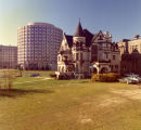 The Elizabeth Plankinton Mansion, with McCormick Hall in the background, circa November 1973