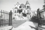 The south facade of the Elizabeth Plankinton Mansion during the demolition process, 1980