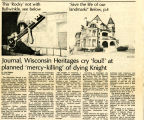 Journal, Wisconsin Heritages Cry 'foul!' at planned 'mercy-killing' of dying Knight, 1978
