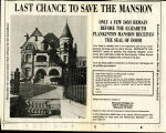Last Chance to Save the Mansion, 1980