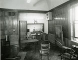 View of an empty classroom within the John Plankinton Mansion, 1953