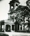 Main entrance to the John Plankinton Mansion at the time it was used as Marquette's College of...