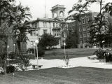 View of the east facade of the John Plankinton Mansion, tucked between the Schroeder Complex and...