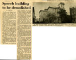 Speech Building to be demolished, 1974