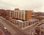 Exterior view of the Holiday Inn Central (later Mashuda Hall) at 19th Street and West Wisconsin...
