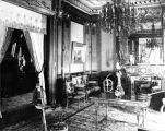 Interior shot of a parlor in the John Plankinton Mansion