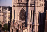 Detail view of Gesu Church's north facade, 1984