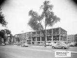 North facade, Memorial Library while it is under construction, 1952