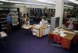 Library staff at their work in Memorial Library