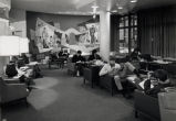 Student lounge on the first floor of the Brooks Memorial Union, 1969