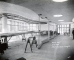 Construction work on the first floor of the Brooks Memorial Union, 1951