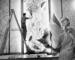 Biblical Triptych installation, Brooks Memorial Union, 1953