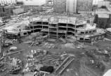 Alumni Memorial Union construction site, west facade, 1990