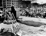 Groundbreaking ceremony for the Alumni Memorial Union, 1989