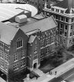 Aerial view of Sensenbrenner Hall, taken from the northeast, 1984