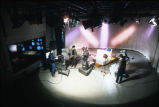 Videographers position themselves around the set in the Instructional Media Center's studio in...