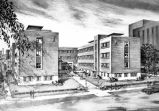 Architectural drawing, O'Donnell Hall