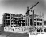 Street-level view of the McCormick Hall construction site, 1966
