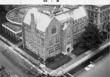 Aerial view of Sensenbrenner Hall, taken from the northeast corner of the building, 1968