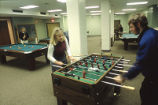 Students take advantage of the McCormick Hall game room, 2000