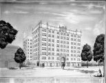 Architect's rendering of La Salle Hotel