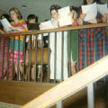 Cobeen Hall residents sing Christmas carols, 1966
