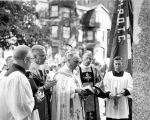 His Excellency, Archbishop Albert G. Meyer, presides at the blessing and dedication ceremonies of...