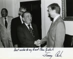 Shaking hands with President Jimmy Carter; August 3, 1979