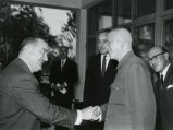 Shaking hands with President Chiang Kai-Shek of China; November 11, 1965