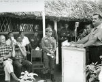 Zablocki speaking during his trip to Southeast Asia; October 1963
