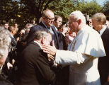Receiving the Pope's blessing; October 6, 1979