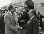Greeting President Sadat, January 1978