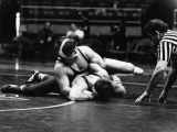 Mike Wagner and Fred McGaver wrestle in the NCAA Western Regional, 1979