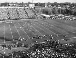 View of the Marquette versus Fordham football game, as seen from the pressbox, probably 1954