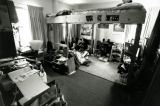 Girls study under their loft bed in Cobeen Hall, 1992