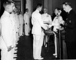 Commissioning ceremony, 1945-1946