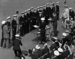Navy ROTC presentation of awards or commissioning ceremony