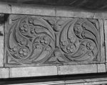 Detail view of scrollwork in the Joan of Arc Chapel, circa 1920