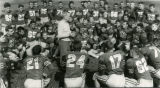 Frank Murray speaks to his team, 1949