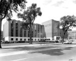 View of Memorial Library from Wisconsin Avenue, circa 1955