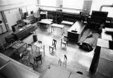 View of an empty lab classroom, 1977-1978